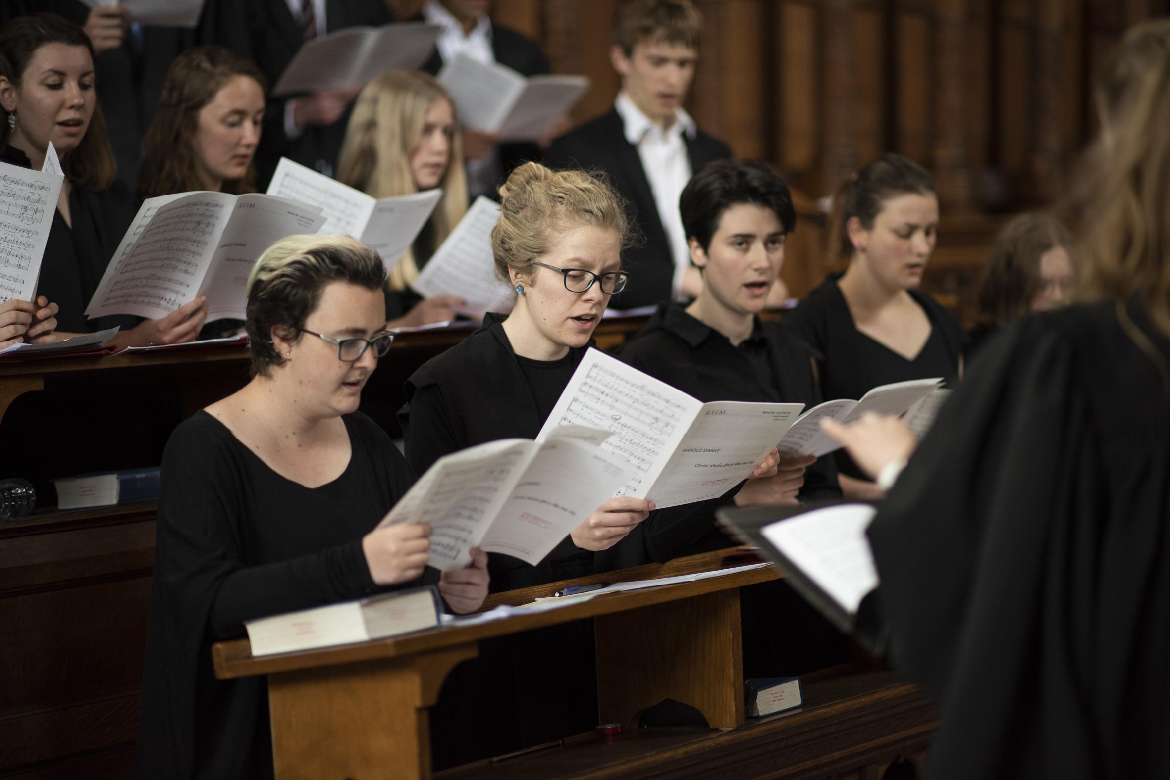 Choir in chapel
