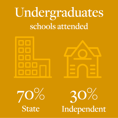 Proportion of undergraduates from state/independent schools