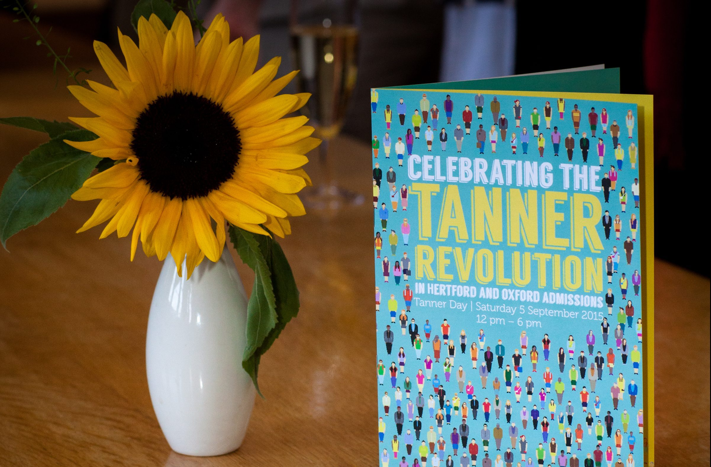 Tanner Revolution leaflet and flower