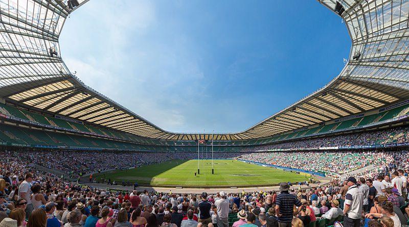 Twickenham Stadium in sun