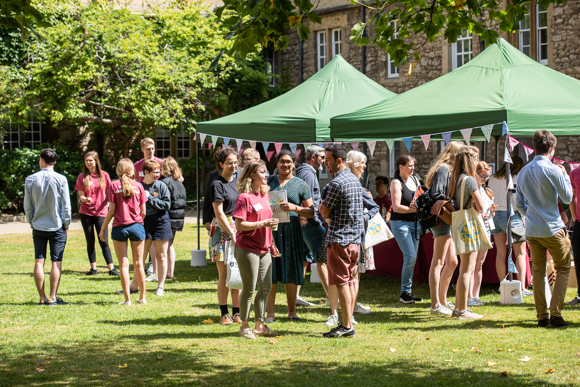 Visitors to open day in quad